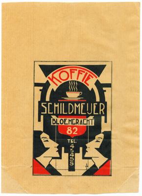 Koffiezakje. Schildmeijer Bloemgracht 82. Collectie Jordaanmuseum