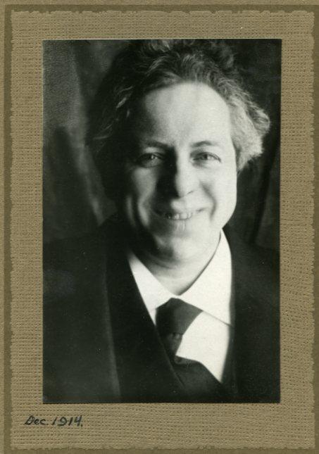 Querido, Israël. Portretfoto. dec 1914. Collectie Jordaanmuseum